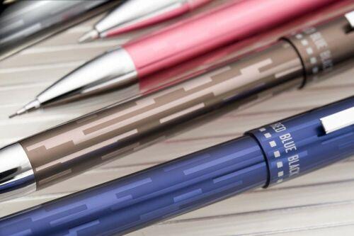 SAILOR METALINO-4 Multi Pen 3 Colors Ballpoint Pen /& Mechanical Pencil Brown