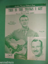 Eddy Arnold 1948 This Is the Thanks I Get For Loving You Tommy Dilbeck