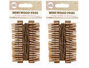 4m De Yute Cuerda Craft Boda Colgante Foto Clips de Madera 72 X Clavijas de madera Mini