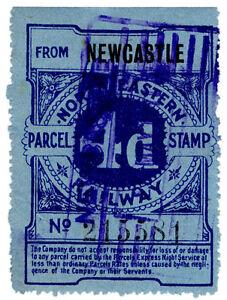 I-B-North-Eastern-Railway-Parcel-Stamp-4d-Newcastle