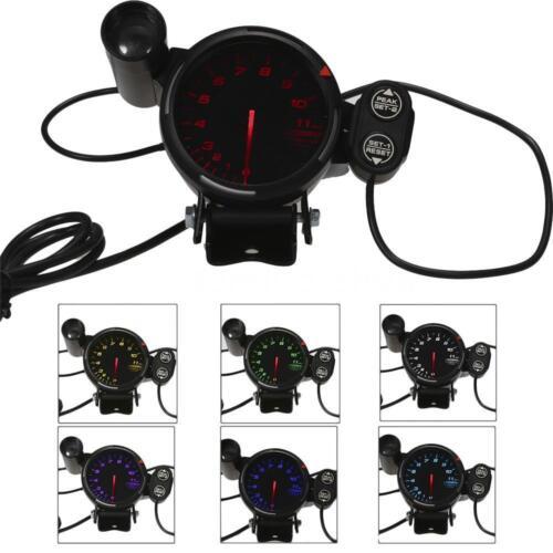 3.5/'/' Diameter Auto Tachometer Gauge 0-11K RPM with 7 Colors Backlight M9I5