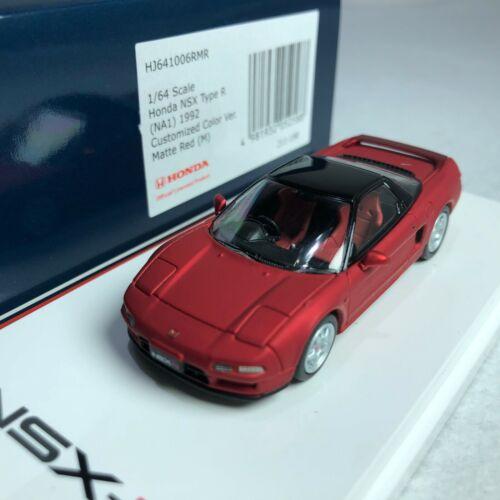 1//64 Hobby Japan HJ Honda NSX NA1 Type R 1992 Matte Red Metallic HJ641006RMR
