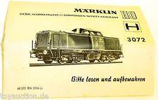 3072 Märklin Manual de instrucciones 68 372 RN 0766 ju å