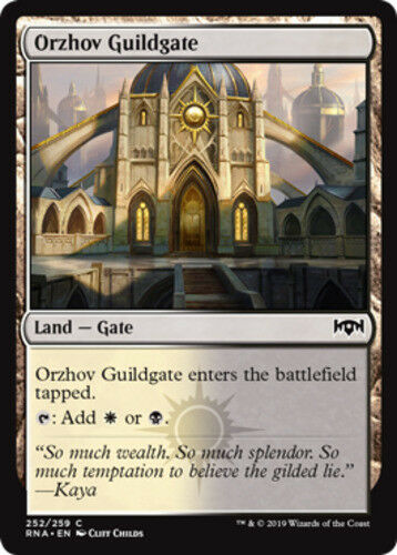 1x Orzhov Guildgate (252) - Foil NM-Mint, English Ravnica Allegiance MTG Magic
