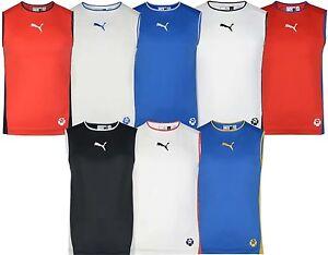 b9441cde706 Men's New Puma Logo Vest Tank Top Sleeveless T-Shirt Singlet ...