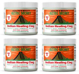 Aztec Secret Indian Healing Clay Deep Pore Cleansing Facial Mask - 1 LB (4 Pack)