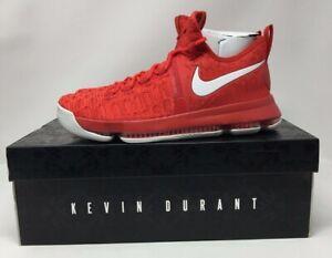 new product 9d176 1f493 Details about New Nike Air Zoom KD 9 Flyknit Varsity Red White DS  843392-611 Size 10