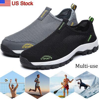 Mens Mesh Hiking Walking Runing Sneakers Sports Outdoor Beach Mesh Water Shoes