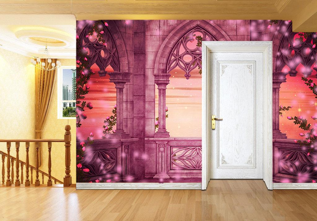 3D pink Gartenbluemen 447 Tapete Tapeten Mauer Foto Familie Tapete Wandgemälde DE