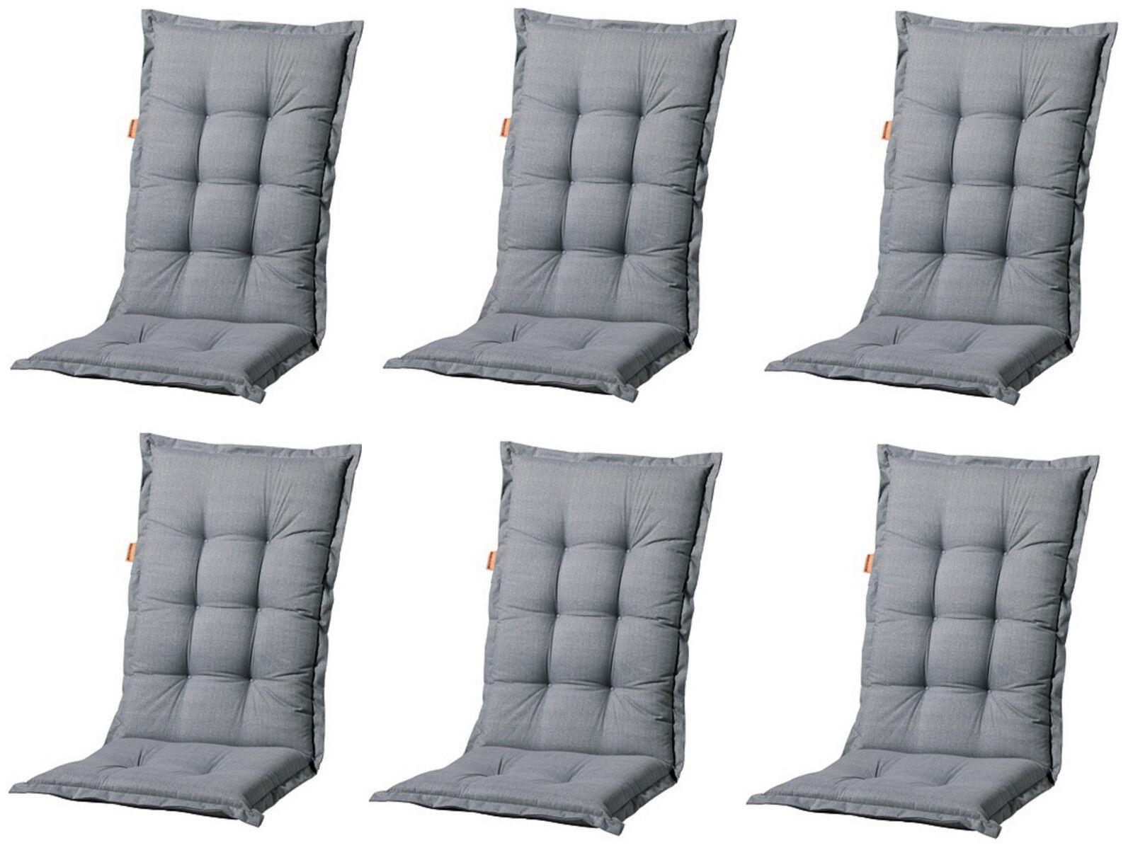 6 x luxus gartenm bel hochlehner sessel auflagen polster kissen 8 cm einlage neu ebay. Black Bedroom Furniture Sets. Home Design Ideas