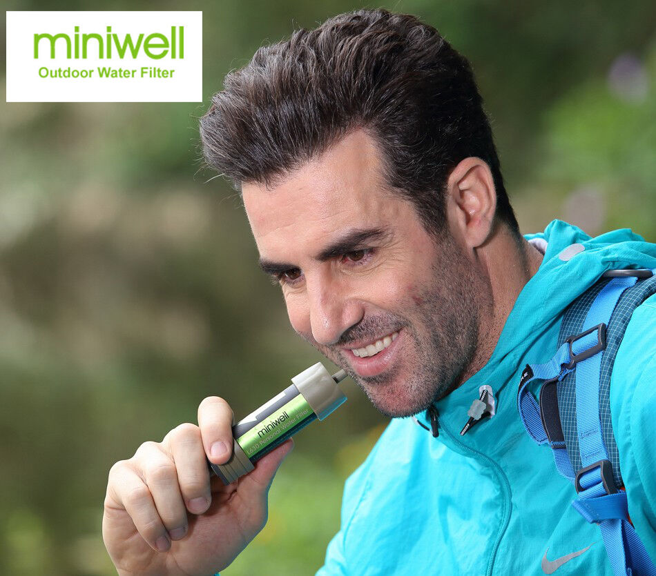 Miniwell Portable Water Purifier Filter Emergency Survival Kit Straw  Travel  zero profit