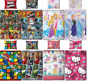 Official-Licensed-Character-Single-Rotary-Duvet-Cover-Bed-Sets-Gift-Boys-Girls