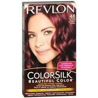 Revlon Colorsilk Haircolor - 48 Burgundy + Makeup Sponge