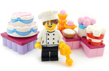 NEW Lego Minifig White CHEF HAT Food Kitchen Baker Minifigure Toque Head Gear