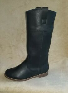 girls black boots size 13