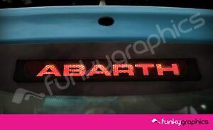 Fiat-500-Abarth-Logo-3rd-luz-de-freno-decal-sticker-grafico-X-1-En-Vinilo-Negro