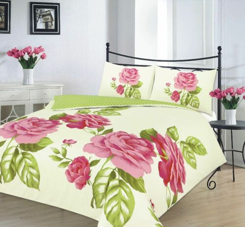 Complete Duvet Cover Bed Set with Valance sheet Pillowcases Single Double King