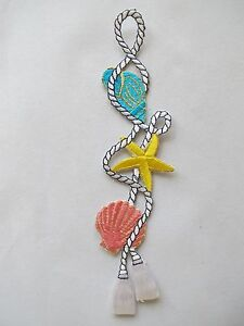 3341-7-3-4-034-Ocean-Conch-Starfish-Clam-w-Rope-Embroidery-Iron-On-Applique-Patch