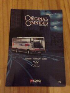 Alerte Corgi Classics Contrôleur Original Omnibus Catalogue De Janvier à Mars 1998-afficher Le Titre D'origine