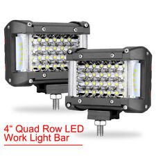 2x 4 440w Led Work Light Bar Spot Flood Pods Off Road Tractor 4wd 12v 4 Row