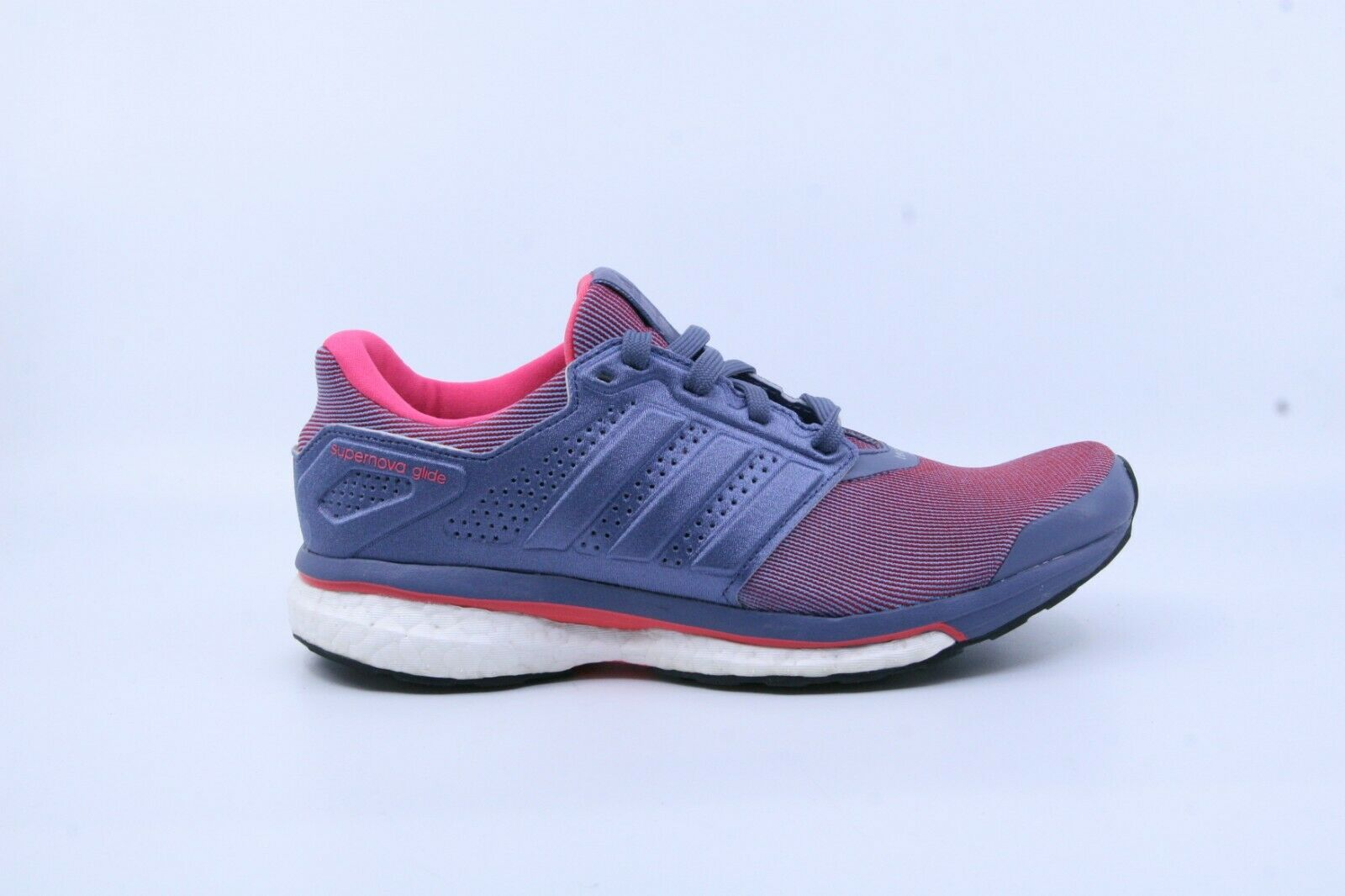 Adidas S80275 Mujer Supernova Glide 8 Tenis Para Correr Púrpura Rojo US 6