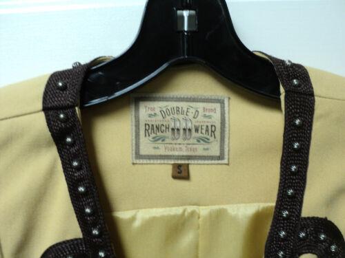 Trim charro Nwt Chokolade D Double Ranchwear Small Vest Størrelse Studded Med w7gYqAC