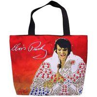 King Of Rock & Roll Elvis Presley Shopping Tote Bag 12 1/2x 17 Wg Az