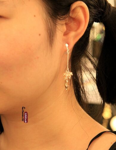 Ohrringe Clip Zuchtperle Fein Tropf Amber Original Geschenk