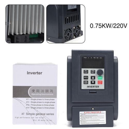 AC 220V 0,75KW VFD Frequency Drive Inverter Drehzahlregler Frequenzumrichter DE