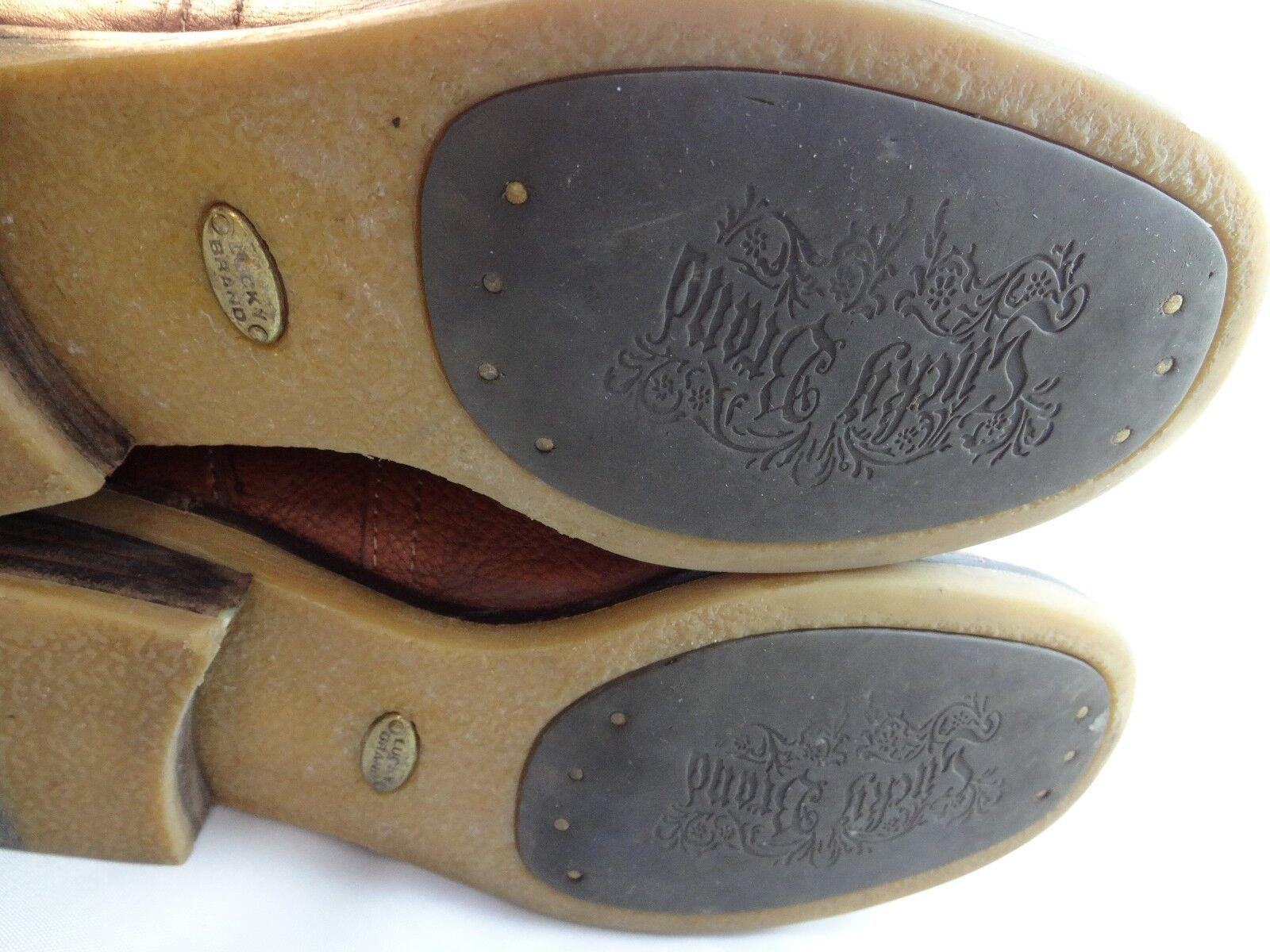 Lucky Brand Angel Angel Angel Alto Botas De Cuero Marrón 17 de alto UE 36 Knee High adjusta 0dd7ed