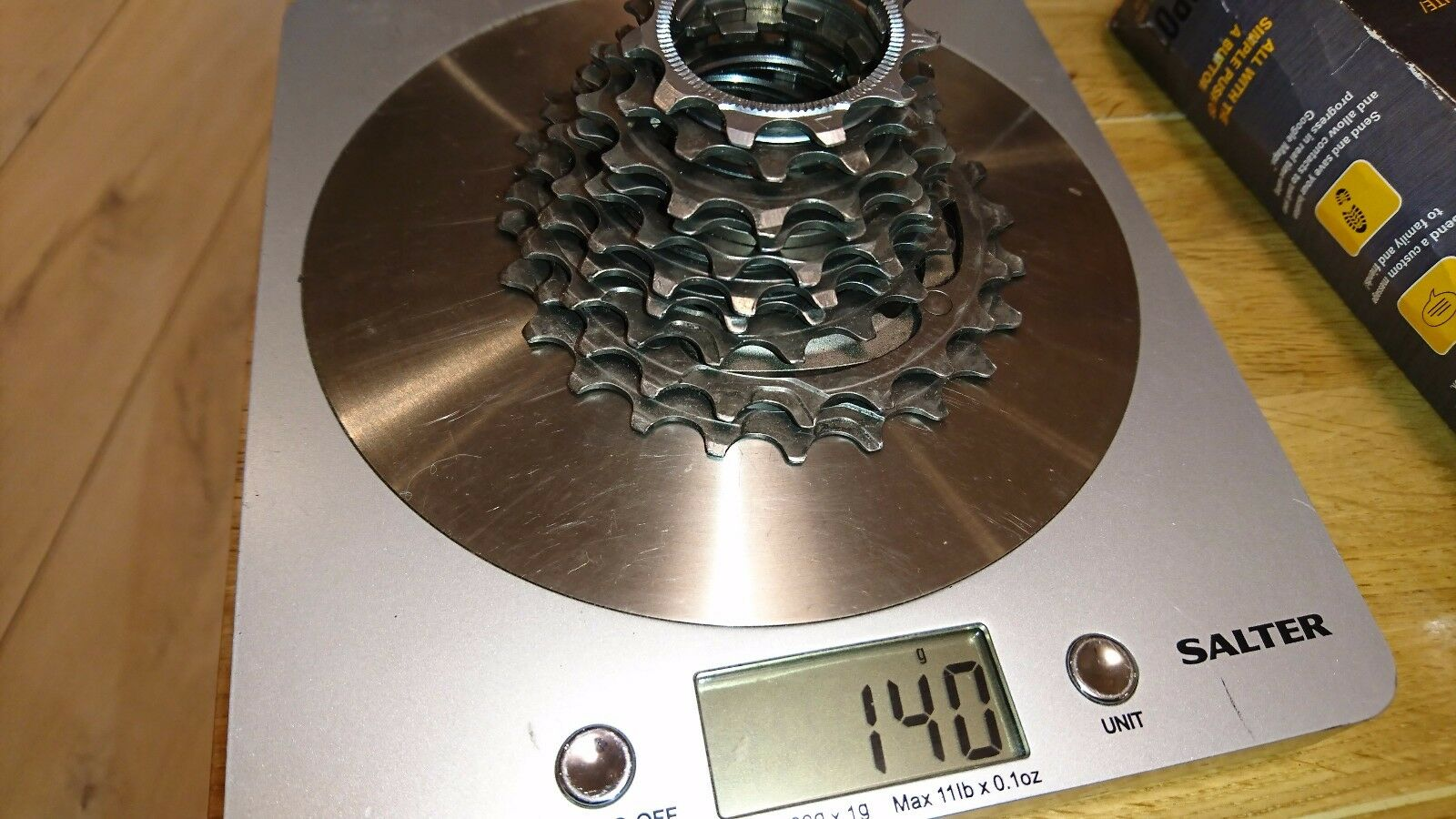 Campagnolo Record 140g Road Bike nearly full Titanium Cassette 10 Speed 11-23