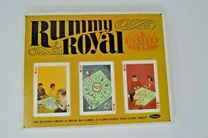 Vintage-Whitman-Rummy-Royal-Card-Game-100-Plastic-Chips-Deck-of-Cards-Sheet-1965