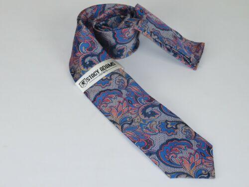 Men/'s Stacy Adams Necktie Hankie Set Business or Formal STA47 Blue pink Floral