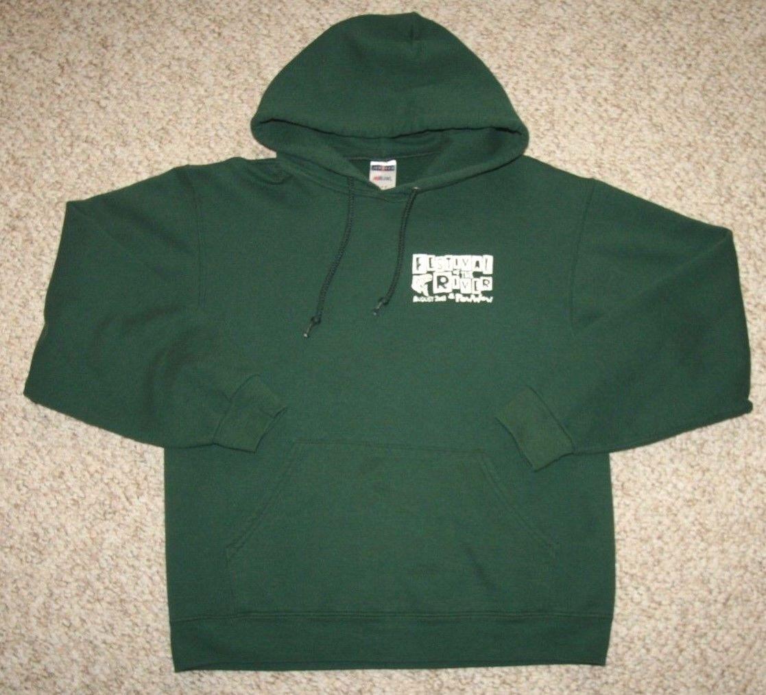 Jerzees NuBlend Hooded Sweatshirt Green Women's Woman Cotton Polyester Medium