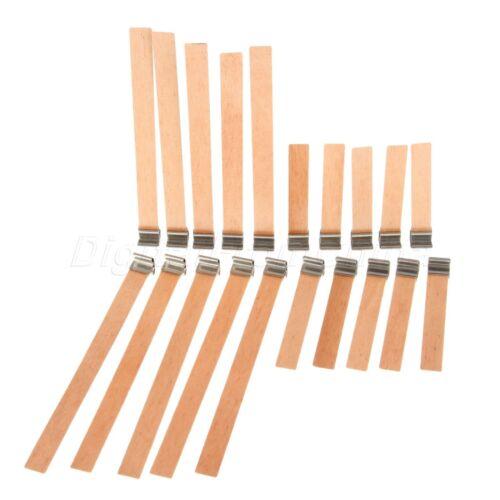 10 Tamaños X2 plancha de madera Mecha de Vela Vela incorpora las pestañas hace fuentes caliente Hágalo usted mismo