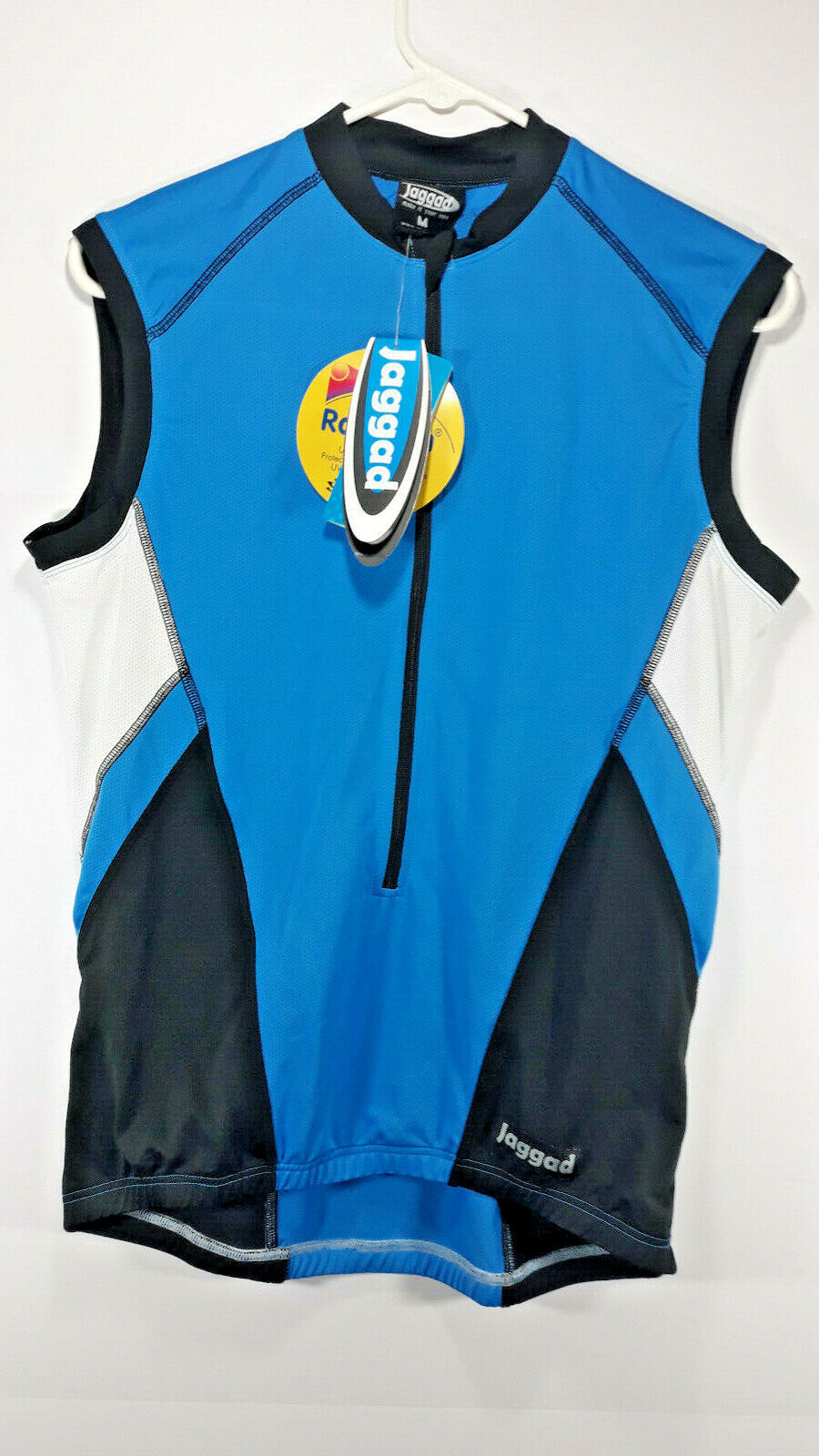 NWT Jaggad Womens bluee Medium Cycling Jersey Bicycle Length 24-1 2 Width 20
