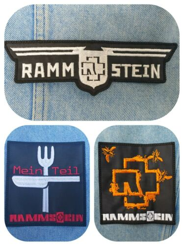 Rammstein embroidered patch industrial metal lindemann