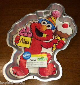 Details About Wilton Elmo With Ice Cream Cone Cake Pan 1996 Insert Instructions
