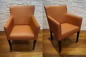Details Zu Breite Echtleder Stuhl Sessel Mit Armlehnen 100 Leder Stuhle Esszimmerstuhle