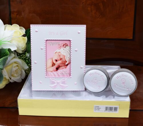 Birth Shower Christening Baby Girl Photo Frame My First Tooth Curl Box Gift Set