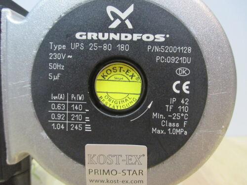 Grundfos Pumpe UPS 25-80 Heizungspumpe 1x230V Umwälzpumpe     KOST EX P15//297