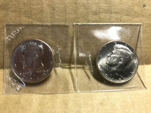 2016 2017 2018 2019 P/&D Kennedy Half Dollar Uncirculated 8 Coins 50c