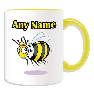 Personalised Gift Crown Bee Mug Money Box Name Message Bumblebee Cup Tea Coffee