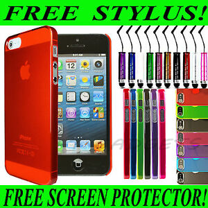 NEW-ULTRA-THIN-CRYSTAL-CLEAR-TRANSPARENT-HARD-CASE-COVER-FOR-APPLE-IPHONE-5-5G