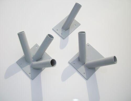 Gris Drapeau Support Mural Support Mât Double Triple Plaque 1 2 3