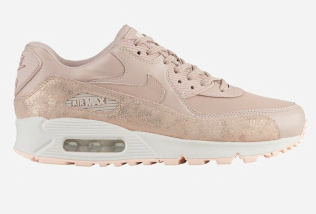 Nike Air Max 90 Women Size 10 New Box pink Pink PRM Beige