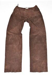 Pantalon brun cuir droite jambe Taille Harrods en W30 Jeans femme L32 à Pantalon Sq8aBS
