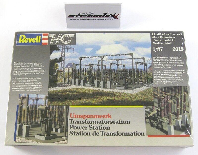 Revell H0 2018 Bausatz Umspannwerk Transformatorstation mit OVP X00001-18420  | Innovation