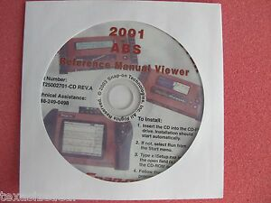 Details about Snap On MT2500 MTG2500 Scanner 2001 ABS Reference Manual  Viewer CD MT25002701