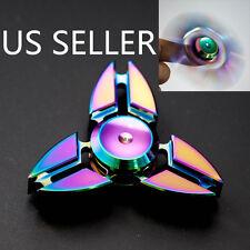 3 Crab Legs Aluminum Tri-Spinner Hand Spinner Fidget  Desk Focus Toy EDC Rainbow